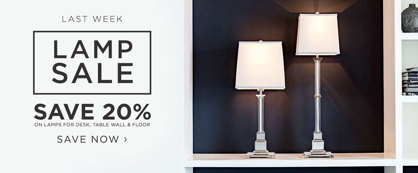 Lamp Sale - Last week to Save 20%