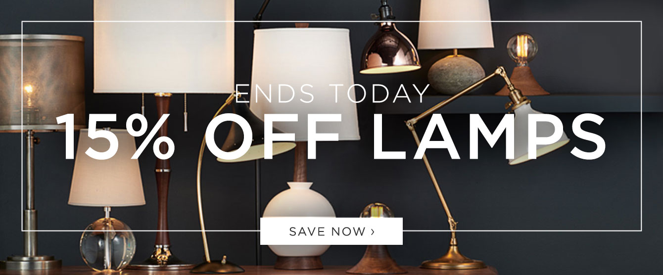 ENDS TODAY: 15% Off Lamps