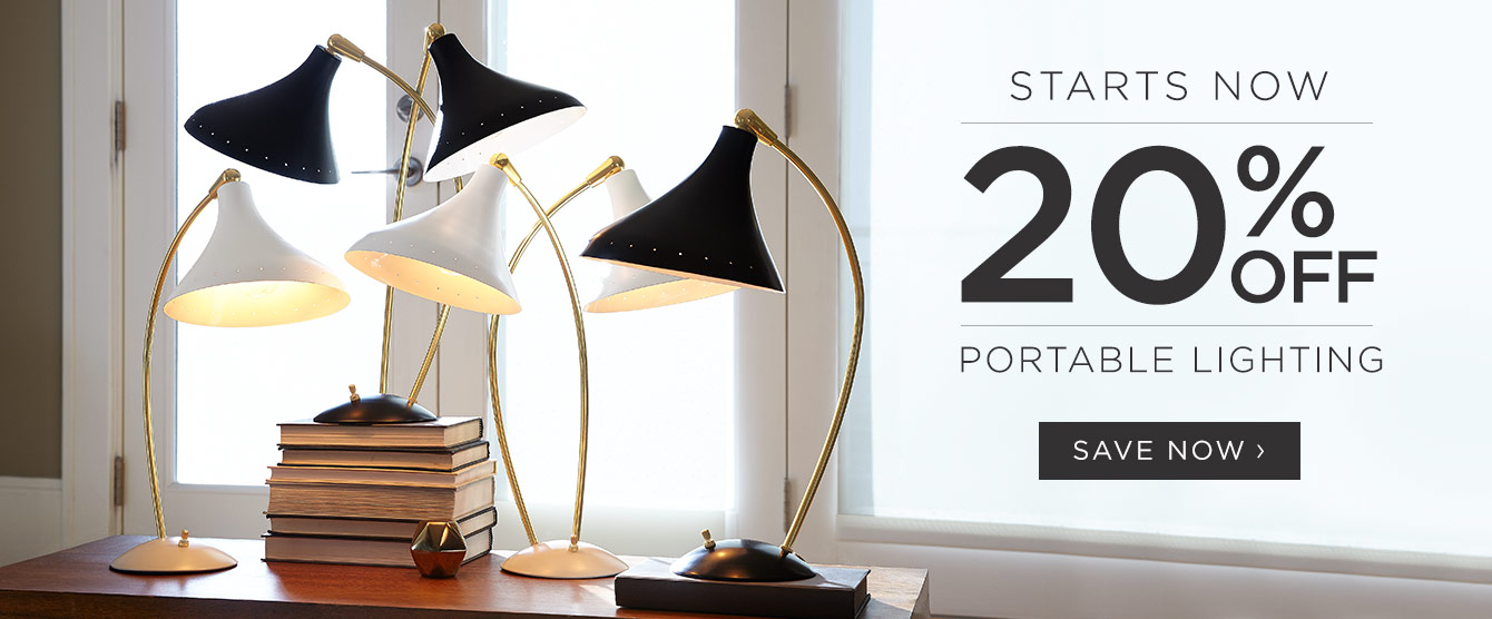 20% Off Portable Lighting - Starts Now!