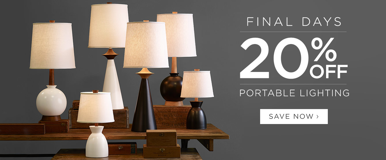 FINAL DAYS: 20% Off Portable Lighting