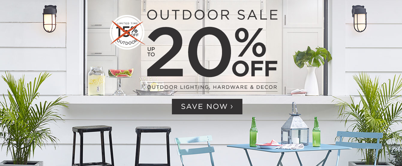 20% Off Outdoor - Is On Now!