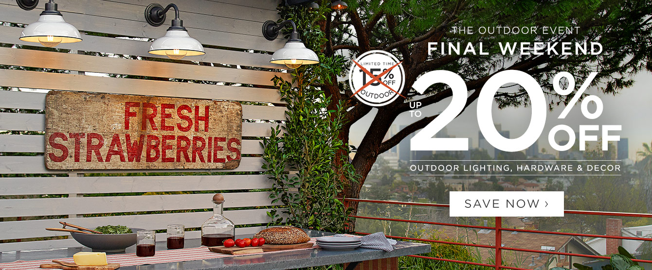 20% Off Outdoor - Final Weekend