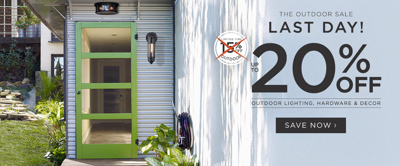20% Off Outdoor - Final Day