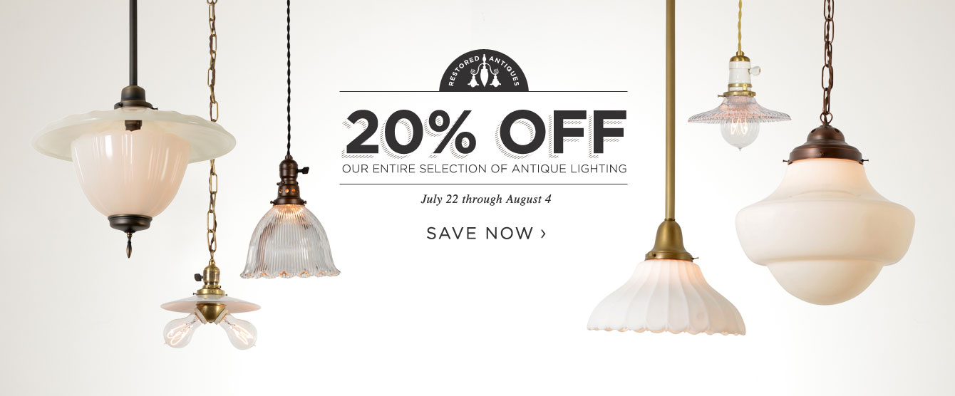 20% Off All Antique Lighting