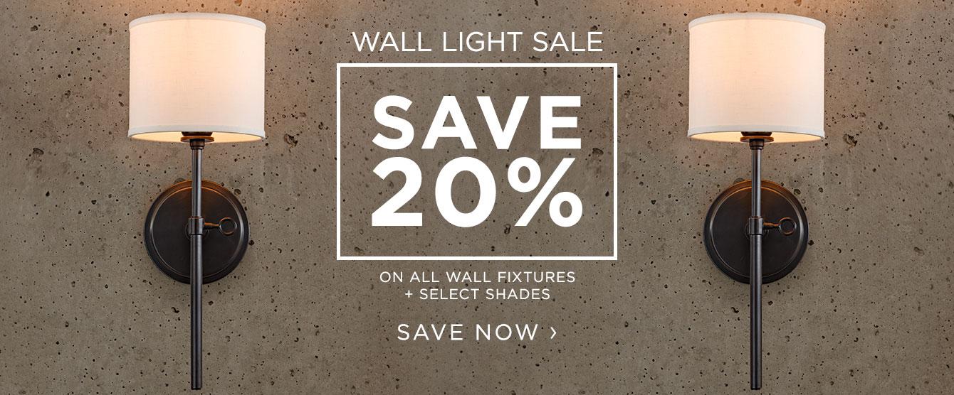 Wall Light Sale - Save 20%