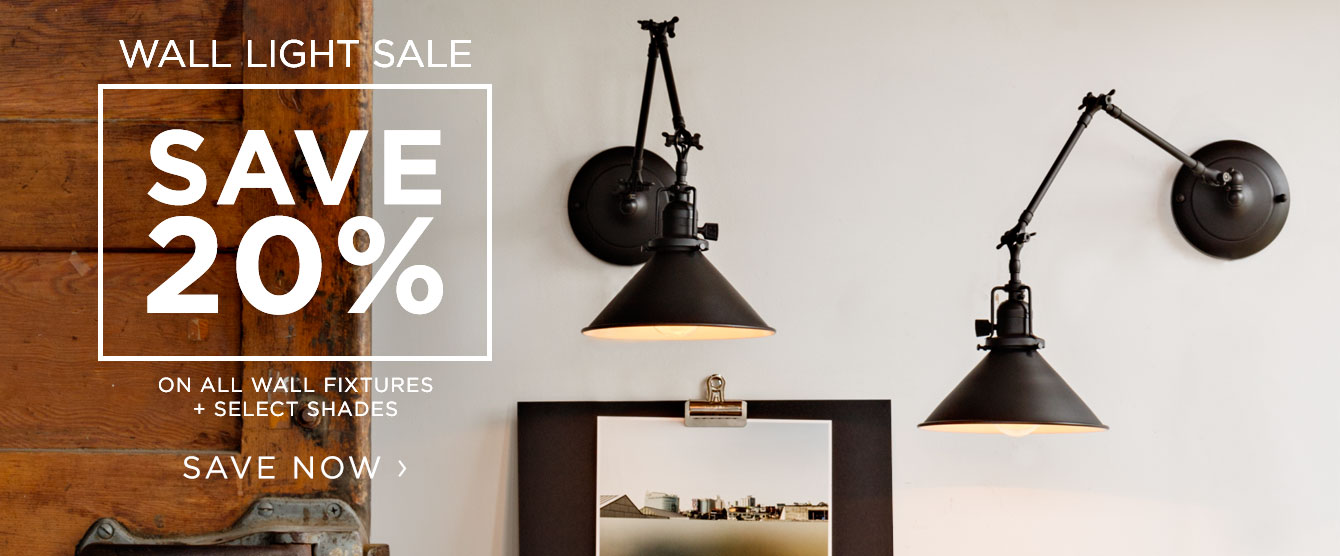 Wall Light Sale - Save 20%