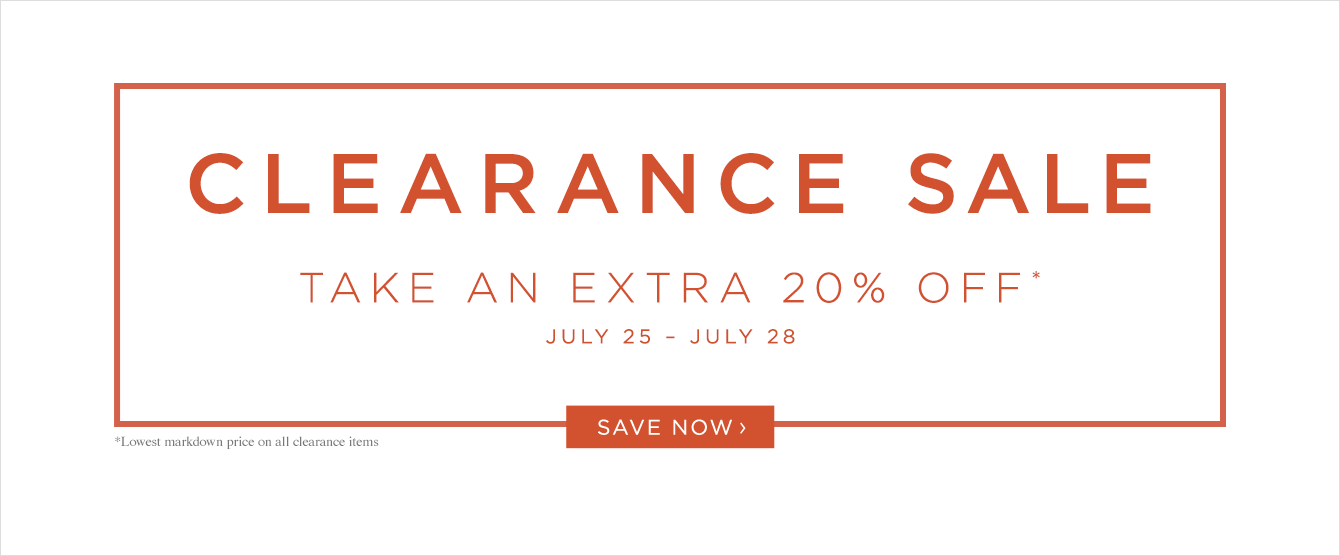 Additional 20% Off Clearance