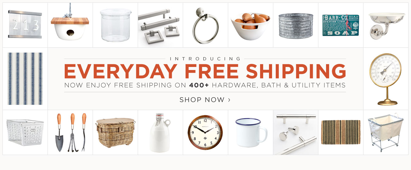 Everyday Free Shipping on 400+ items