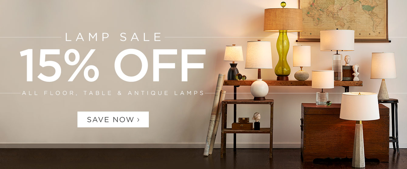 Lamp Sale - 15% Off