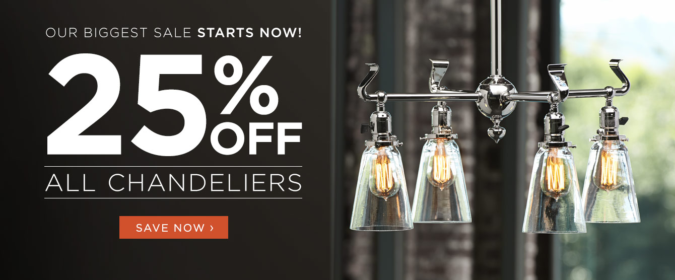 25% Off All Chandeliers