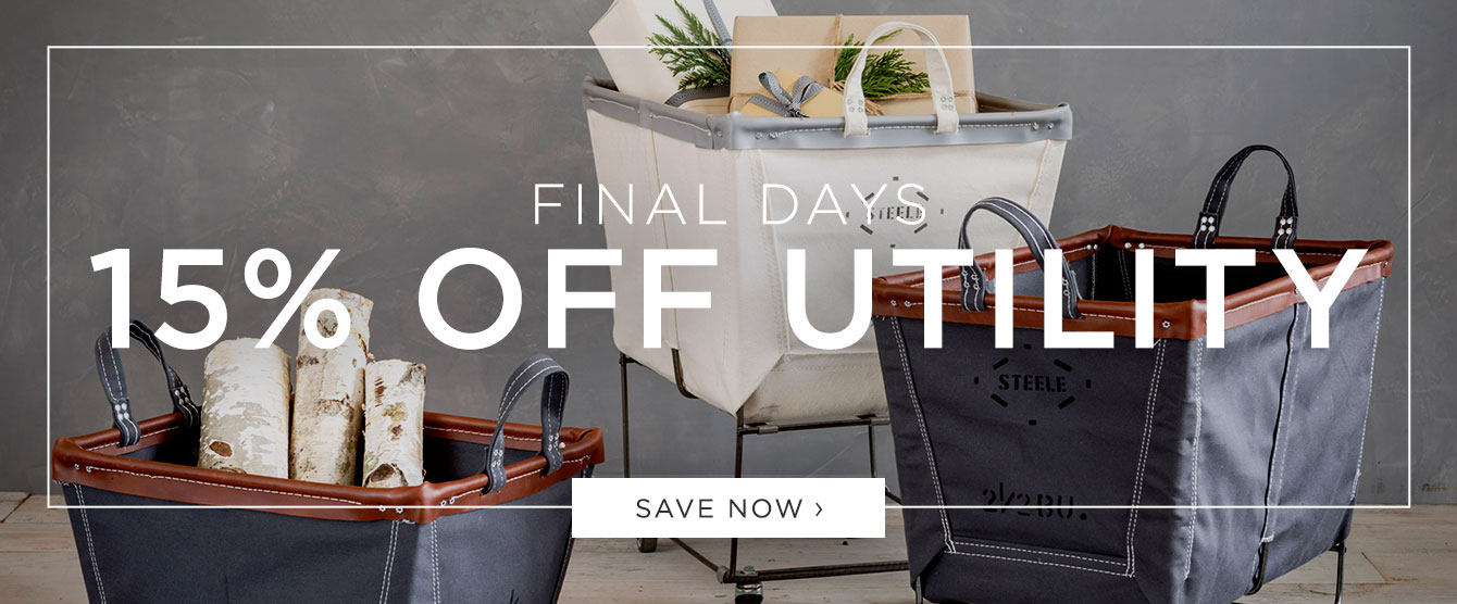 Final Days: 15% Off Utility