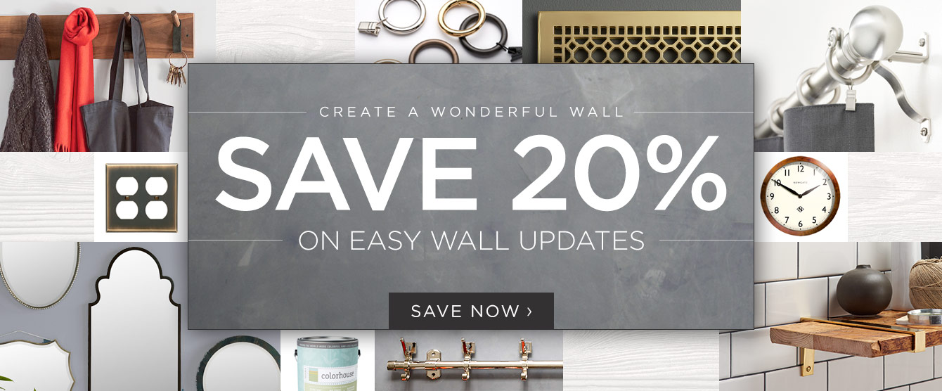 Save 20% on Easy Wall Updates