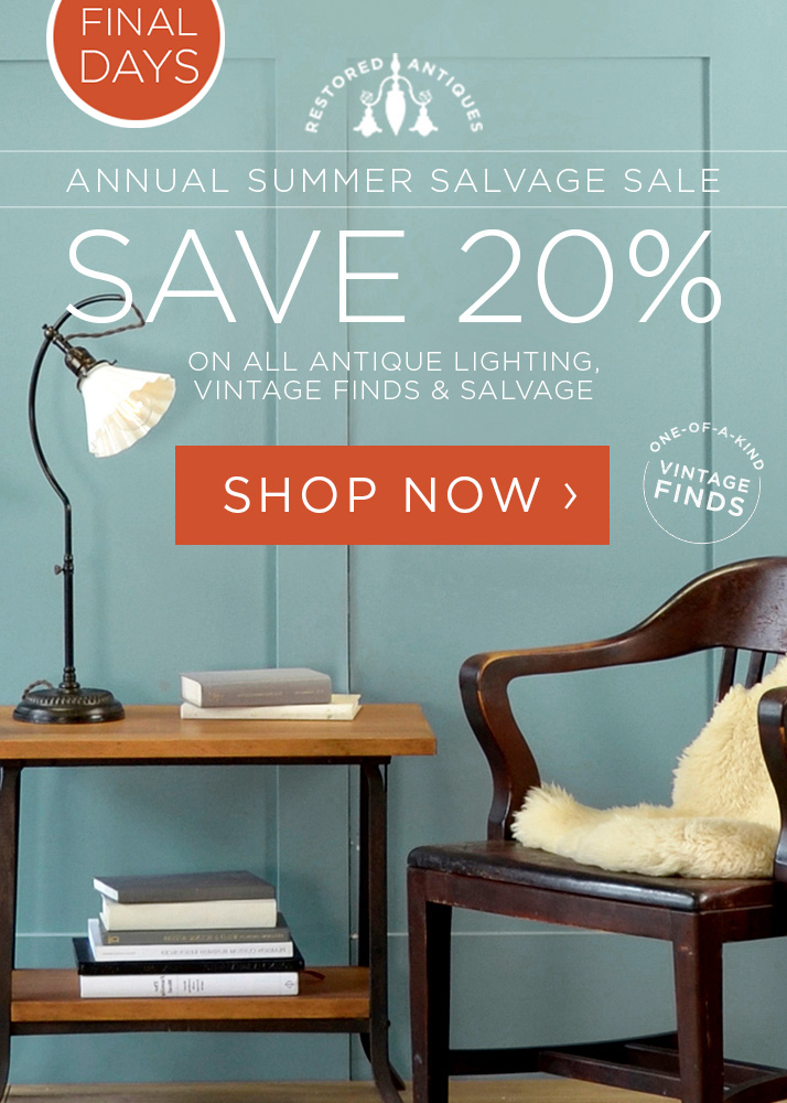 Summer Salvage Sale - Save 20%