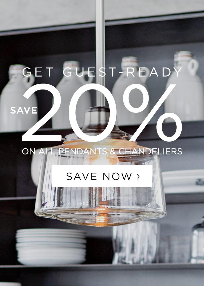 20% Off All Pendants & Chandeliers